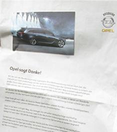 Opel-Anzeige