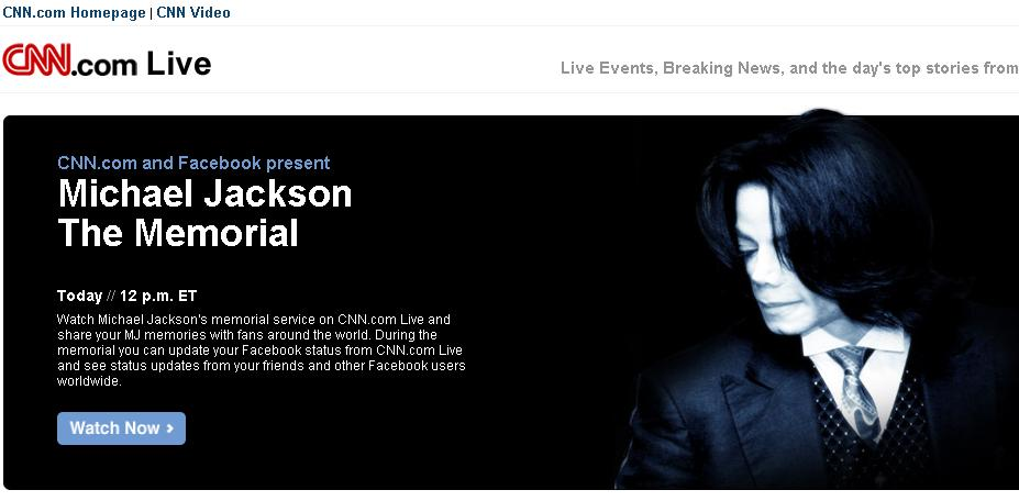 Michael Jackson Memorial auf CNN