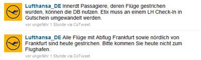 Lufthansa Tweet