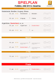 WM-Spielplan Finale