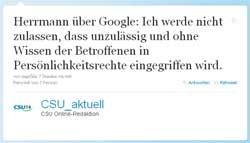Tweet von CSU_aktuell