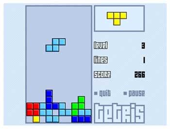 Online Tetris bei Gamesbasis