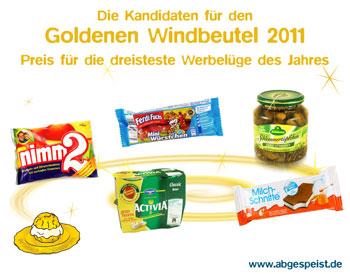 Goldener Windbeutel 2011: Die Kandidaten