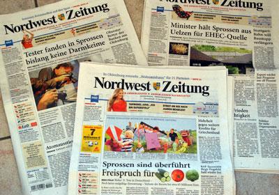 Nordwest-Zeitung zur EHEC-Krise