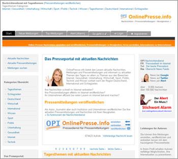 Homepage OnlinePresse.info