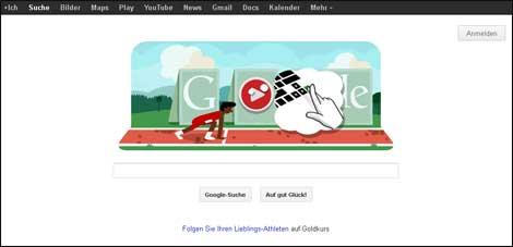 Google-Doodle Hürdenlauf