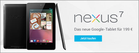 Nexus 7 auf Google Play