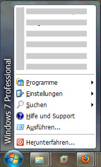Start Button bei Windows 7
