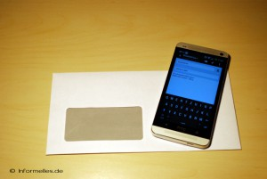 E-Mail auf dem Smartphone schreiben