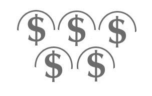 Geld in halben Ringen