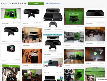 ebay Homepage Produktsuche