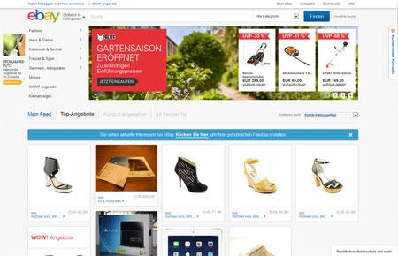 ebay Homepage Startseite