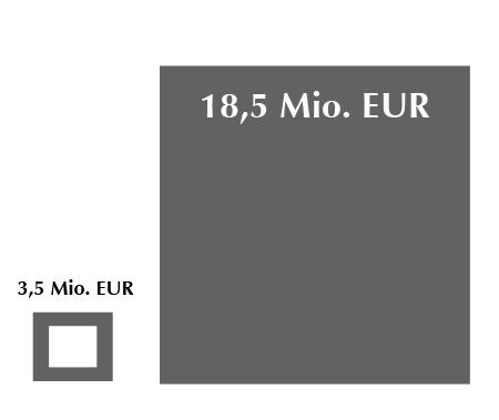 18,5 Mio. EUR Steuerhinterziehung