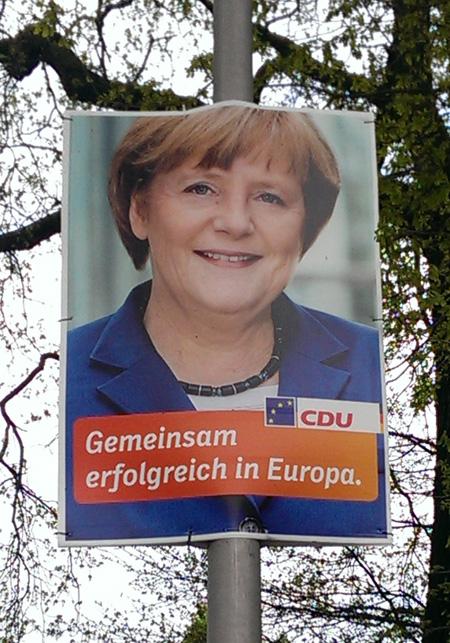 CDU Wahlplakat mit Merkel