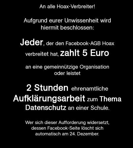 Facebook AGB Hoax
