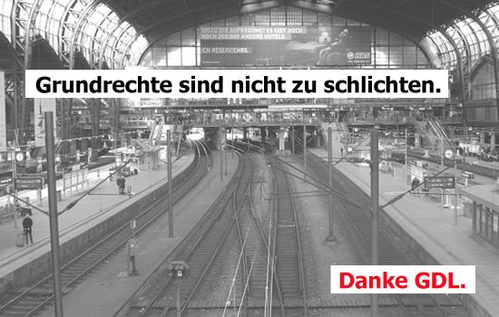 GDL kämpft im Bahnstreik für Grundrechte