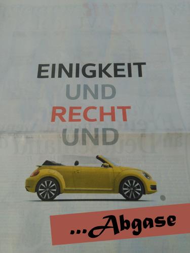 VW Anzeige - durch uns verändert