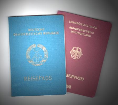 Reisepass DDR & BRD