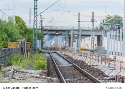 Baustelle an Bahngleisen