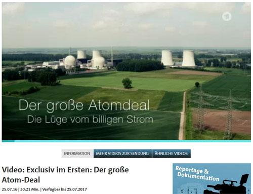 "Screenshot: ARD Reportage ""Der große Atom-Deal"""
