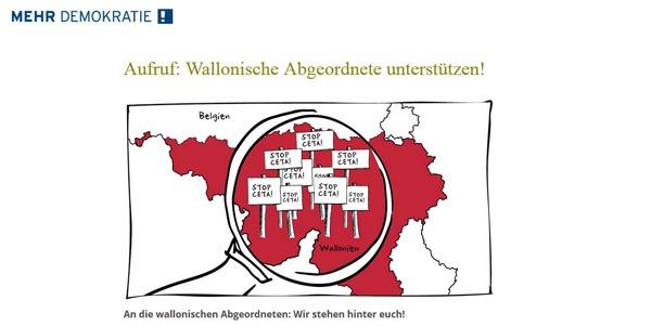Screenshot von mehr-demokratie.de