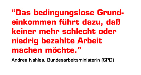 Andrea Nahles zum BGE