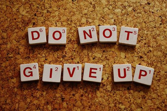 Niemals aufgeben! | Bild: Alexas_Fotos, pixabay.com, CC0 Public Domain