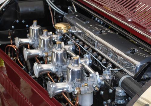 Blick auf einen Verbrennungsmotor