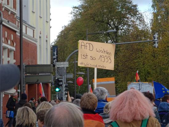 Demonstration durch die Innenstadt