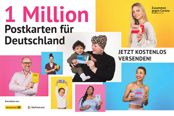 1 Million Postkarten gegen Corona